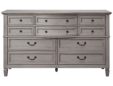 Lakeshore Grey 10 Drawer Dresser, , large