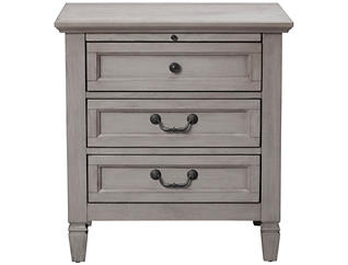 Lakeshore Grey 3Dr Nightstand, , large