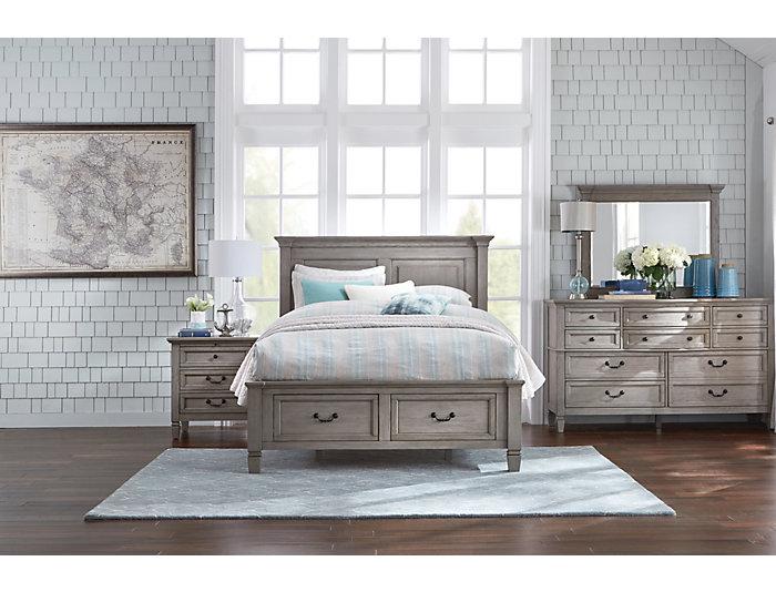 Lakeshore Grey 3 Drawer Nightstand, , large