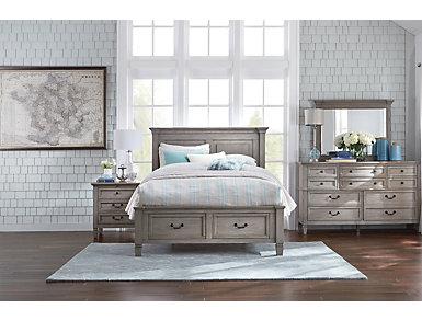 Lakeshore 3 Drawer Nightstand, Grey, large