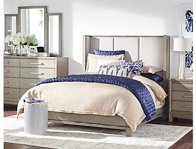 BelAir Queen Upholstered Bed, , large