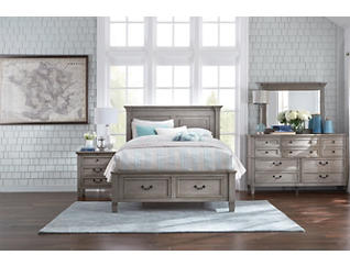 Lakeshore Grey Queen Storage Bed, , large