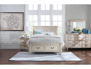 Lakeshore White Queen Storage Bed, , large