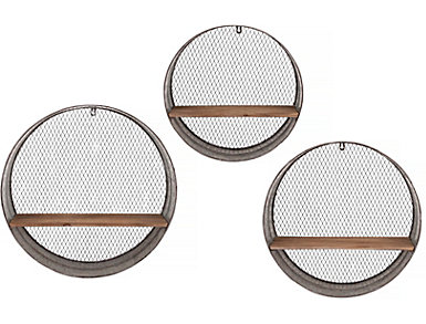 Laurel Round Wall Shelves, , large