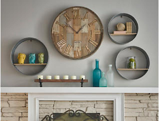 Laurel Round Wall Shelves, , large