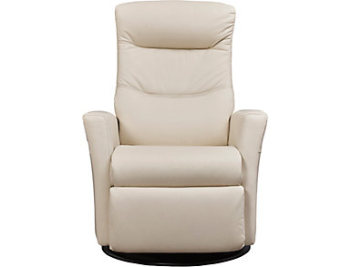 Lord Triple Power Swivel Glider Leather Recliner, , large