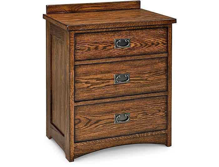 Oak Park 3 Drawer Nightstand, , large