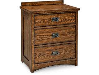 Oak Park 3 Drawer Nightstand, , large