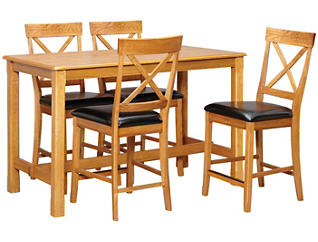 """36"""" Counter Table 4 X Stools, , large"""
