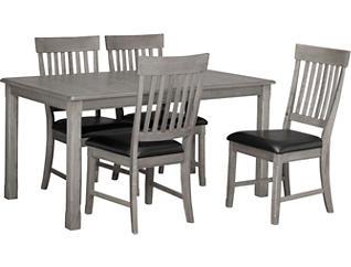 5pc Leg Table Dining Set, , large