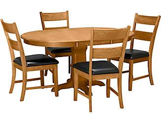 5pc Pedestal Dining Set