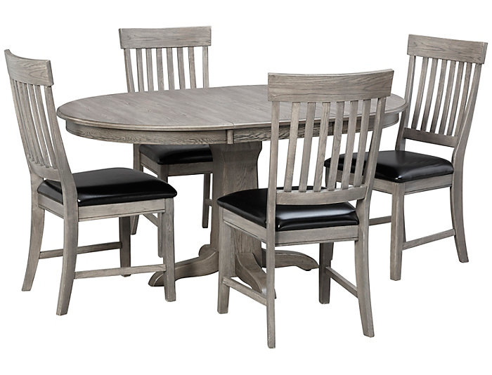Art Van Dining Room Tables: 5pc Pedestal Dining Set