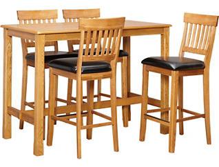 "42"" Pub Table 4 Slat Stools, , large"