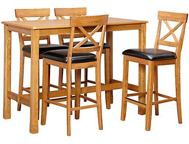 "42"" Pub Table 4 X Stools, , large"