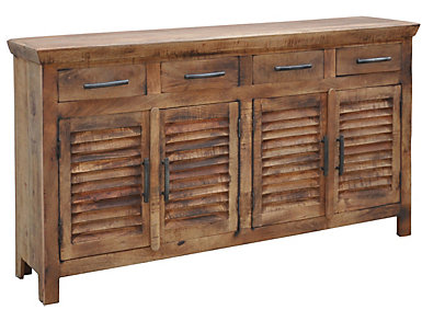 4 Door Louvre Sideboard, , large