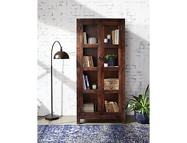 Geoffrey 2 Door Tall Cabinet, , large