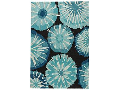 BURST I/O Blue/Black Rug 2x3, , large