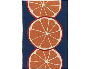 CITRUS I/O Or/Blue Rug 7.6x9.6, , large