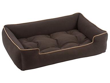 X-Large Sleeper Pet Bed, Brown, , large