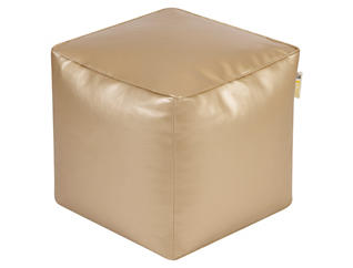 Glam Gold Vinyl Pouf, , large