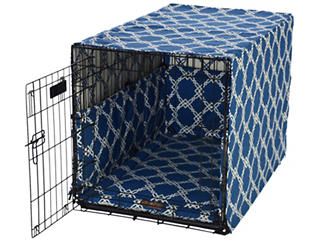 Large Crate Pet Cover, Blue, , large