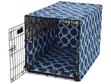 Small Crate Pet Cover, Blue, , large
