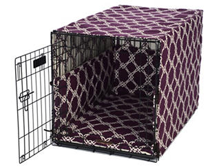 Large Crate Pet Cover, Purple, , large
