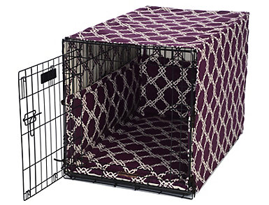 Small Crate Pet Cover, Purple, , large