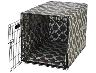 Medium Crate Pet Cover, Smoke Grey, , large
