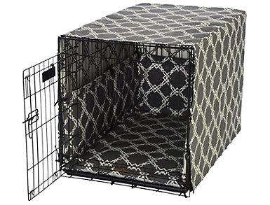 Medium Crate Pet Cover, Smoke Grey, , large