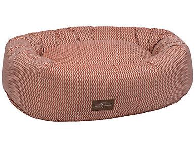 Donut Medium Pet Bed, Rust, , large