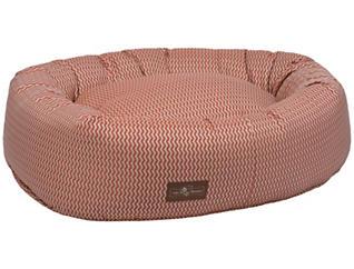Donut Rust Small Pet Bed, Orange, , large