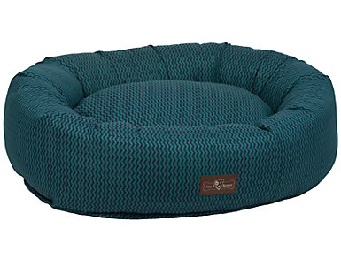 Donut Small Pet Bed, Wind Blue, , large