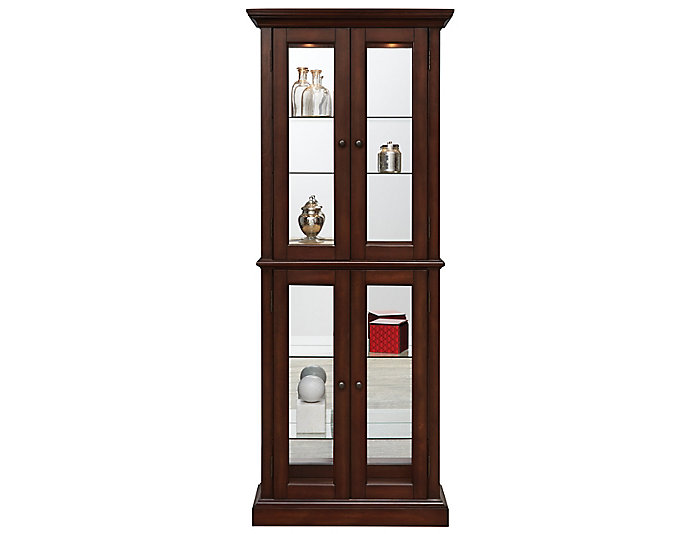 Bristol Double Door Curio, Brown, , large