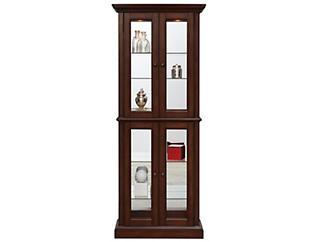 Bristol Double Door Curio, Brown, , large