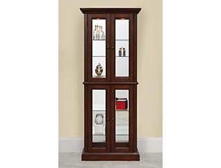 Bristol Brown Double Door Curio, , large