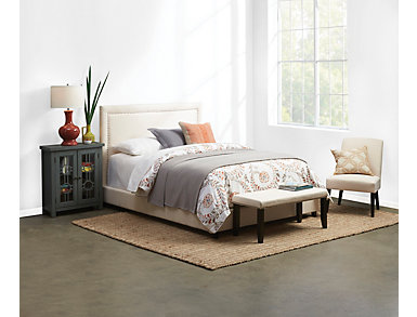 Shachi Upholstred Bed Collecti, , large