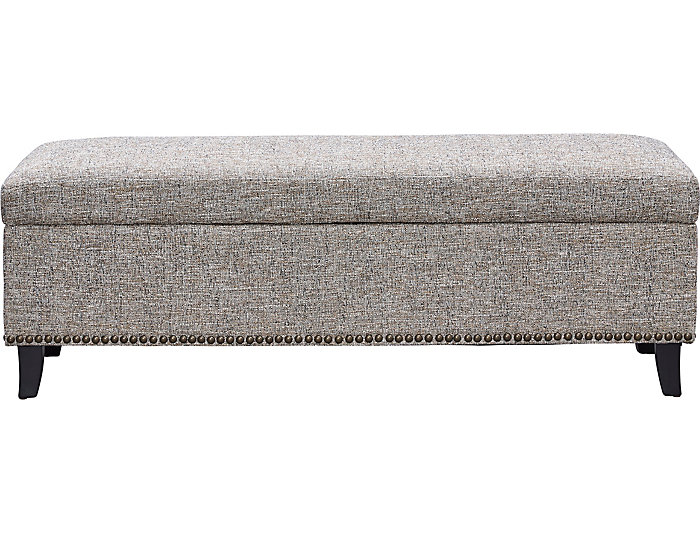 Cordova Mineral Upholstered Storage Bench, , large