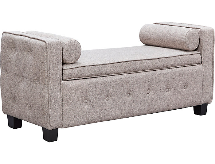 Infinity Fawn Upholstered Storage Bench, , large