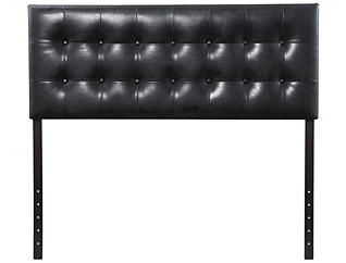Florence Full Headboard, Black, , large