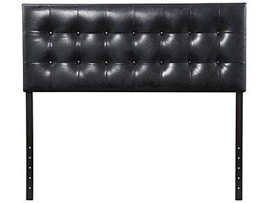Florence Full Headboard, Black, , large