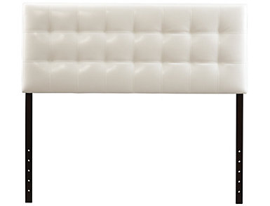 Florence Full Headboard, White, , large