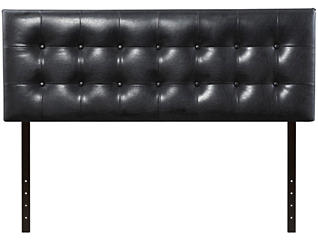 Florence Queen Headboard, Black, , large