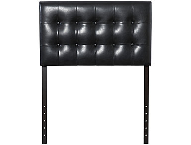 Florence Twin Headboard, Black, , large