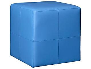 Blue Cube Ottoman, , large