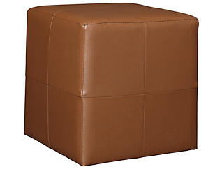 Brown Cube Ottoman, , large
