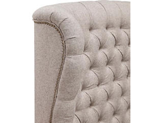 Infinity Fawn King Upholstered Bed, , large
