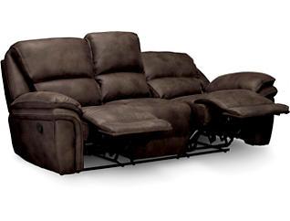 Ero II Chocolate Reclining Sofa, Chocolate, large