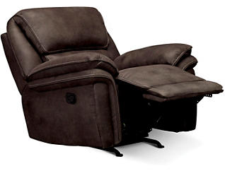 Ero II Chocolate Rocker Recliner, Chocolate, large