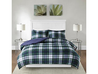 Parkston Navy 3 Piece Twin Comforter Set, , large